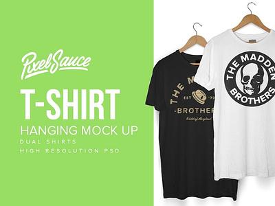 Hanger T-shirt Mockup Template ux vector illustration design logo branding graphic design 3d animation ui hanger t-shirt mockup template