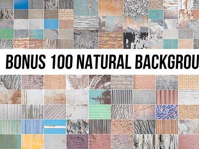 BONUS 100 NATUREAL BAGROUND branding logo motion graphics ui graphic design 3d animation bonus 100 natureal baground