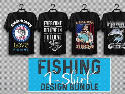 Fishing T-shirt Design Bundle Vol-1 3d vector illustration design motion graphics branding ui logo graphic design animation