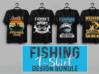 Fishing T-shirt Design Bundle Vol-2 vector illustration design ui motion graphics branding logo graphic design animation 3d