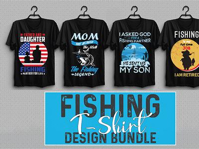 Fishing T-shirt Design Bundle Vol-3 vector illustration design motion graphics branding ui logo graphic design animation 3d