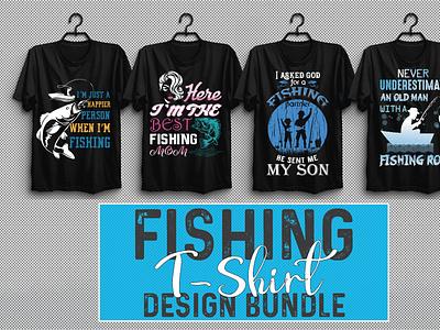 Fishing T-shirt Design Bundle Vol-4 vector illustration design motion graphics branding ui logo graphic design animation 3d