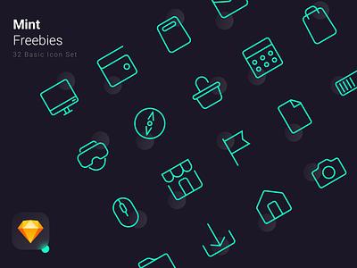 Mint - Freebies - Basic Icon Set basic freebies freebie icon set icons