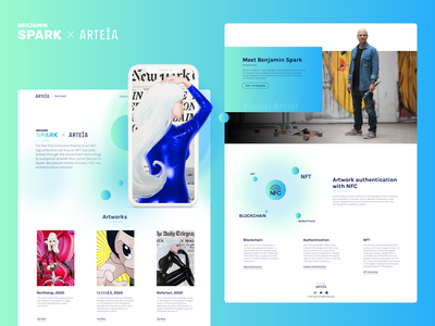 Arteïa Connect - Landing Page design website web webdesign ui