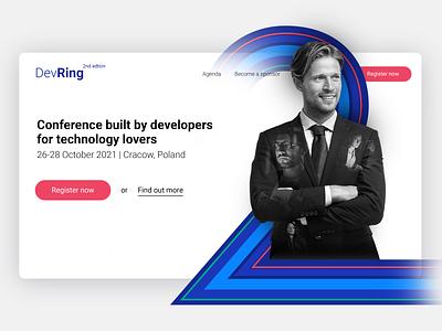 Key Visual for Online Conference website webdesign we graphic design design
