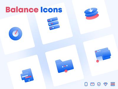 Balance Icons filled icons design simple minimal icons design icon set icons