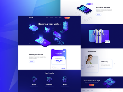Ouin - landing page