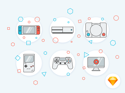 Game Icon - Freebie pad game vector sketch ressources icons freebies free