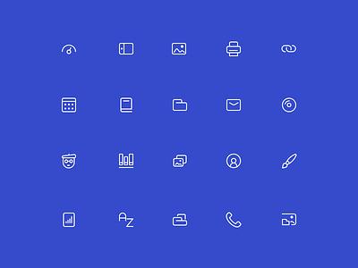 Minimal - icon set minimal stroke simple icons line set icon