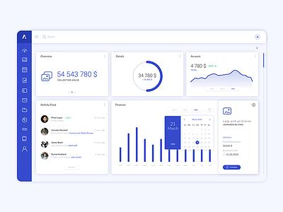 Arteia - Dashboard charts interface dashboard web ux ui application app design
