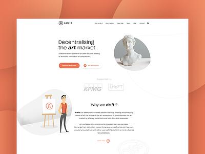 Arteia - Landing Page website webdesign web ux ui page landing ico graphics design