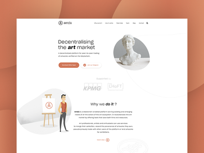 Arteia - Landing Page
