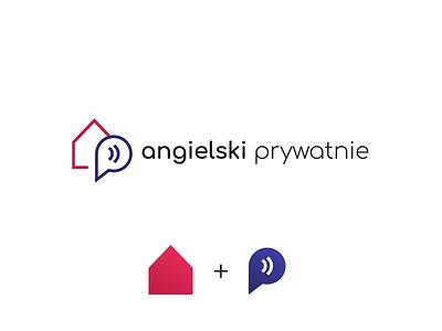 Angielski Prywatnie - logo branding logotype identity logo