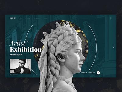 Xarte - Portfolio Art Gallery designs typography ui webdesign website design