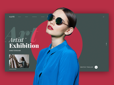 Xarte - Portfolio Art Gallery Alternative typography web webdesign ui website design