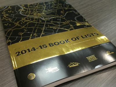 2014-15 Book of Lists gold foil foil stamp foil bol