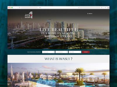 Wasl 1- Real Estate Website Design, UI/UX case study