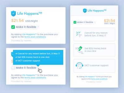 Life Happens Widgets UI Design