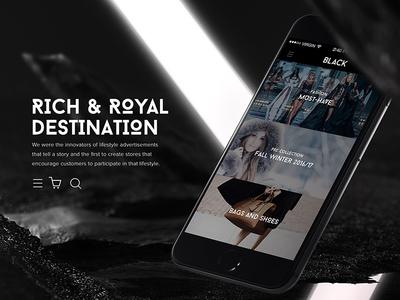 Black Fashion Mobile App