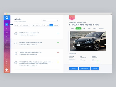Intelico User Dashboard UI/UX Design