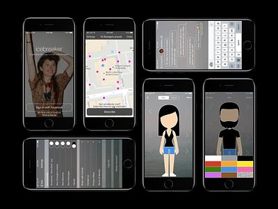 Dating app concept 2 mobile design ios sketch