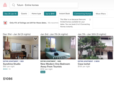 Airbnb: Connecting Homes airbnb contribution redesign web design ux ui concept sketch