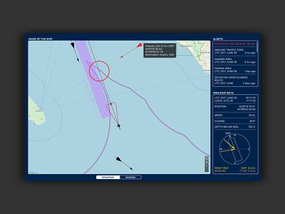 Shone. Navigation tool for container ships shone ux ui ios sketch