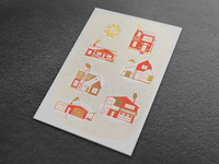 Welcome Home Letterpress Card
