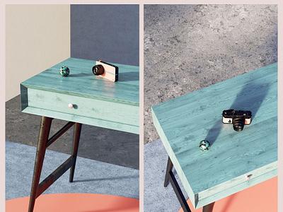 Reno_Camera cinema4d c4d architecture cgi 3d colors home photoshop render design illustration