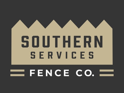 Southern Services Logo Design southern fence icon typography vector branding logo design