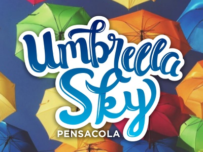 Umbrella Sky logo pensacola umbrella hand lettering lettering
