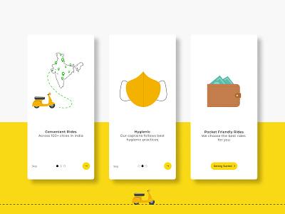 Rapido Splash Screens Concept design minimal typography ux app splash screen ui