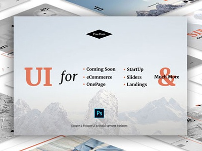 UI Pack For Startup, eCommerce, One Page, Landings & Much More web interfaces ux design ui kit