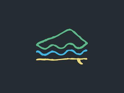 Surf Resort Logo logo outdoors sport surfboard wave resort hotel camp mountain surf