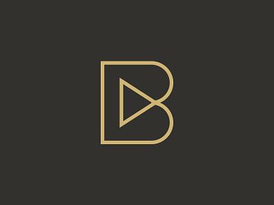 Being Films outline logo movie video film monogram
