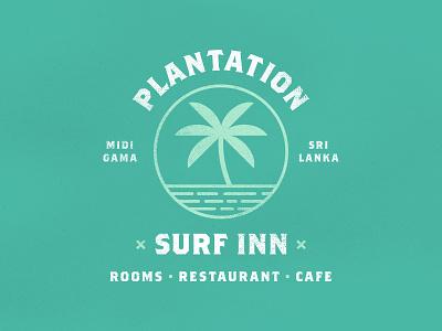 Plantation Surf Inn tourism cafe restaurant ocean travel holiday beach surf hotel palm tree logo