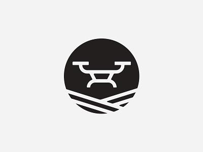 Drone icon sky photo film symbol circle technology logo
