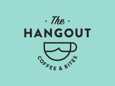The Hangout ocean wave beach logo cup coffee surf cafe