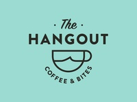 The Hangout ocean wave beach logo cup coffee surf cafe