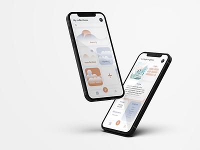 Personal library app ui app design