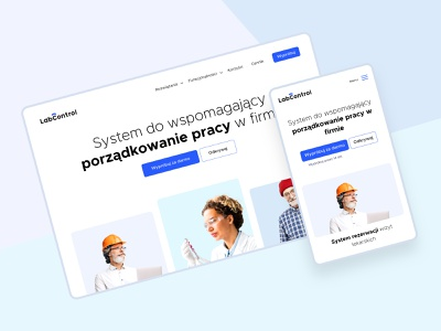 LabControl ui logo website landing clean webdesign
