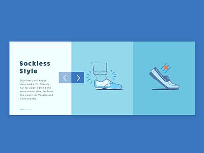 Product benefits minimal ecommerce clean slider illustration carousel
