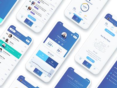 Share Rocket social simple modern leaderboard ios illustration gamification visualization data diagram clean app
