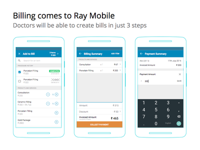 Ray Mobile: Billing mobile invoicing billing android material design