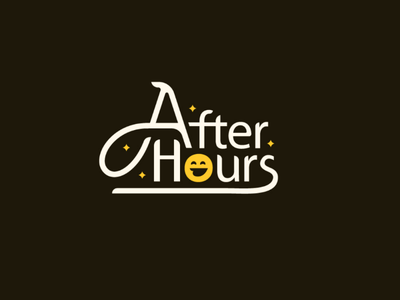 After Hours practice myriad pro font smiley custom type type logo after-hours typography