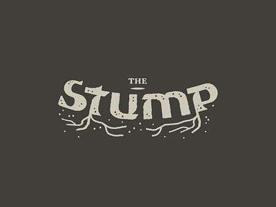 The Stump roughen effect textured tree lettering wordmark logotype type organic roots logo custom type typography stump
