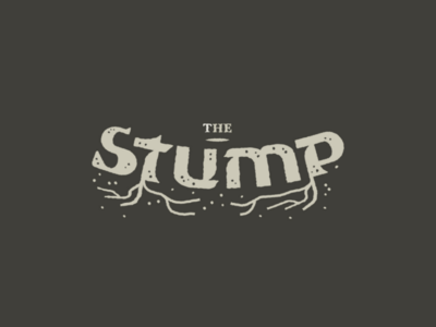 The Stump roughen effect textured tree lettering wordmark logotype type organic roots logo custom type typography stump