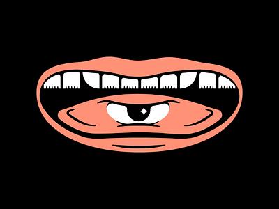 Mask Design Idea N°1 teeth lips quarantine art quarantine fashion illustration simple tongue eye mouth idea mask design design mask covid