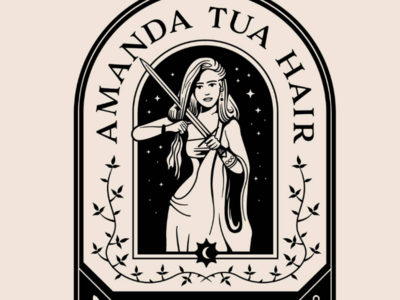 ATHC Detail 1 illustration logo badge tarot woman hair