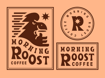 Morning Roost Coffee V3 final look exploration mug coffee mug coffee logo brand branding exploration rooster
